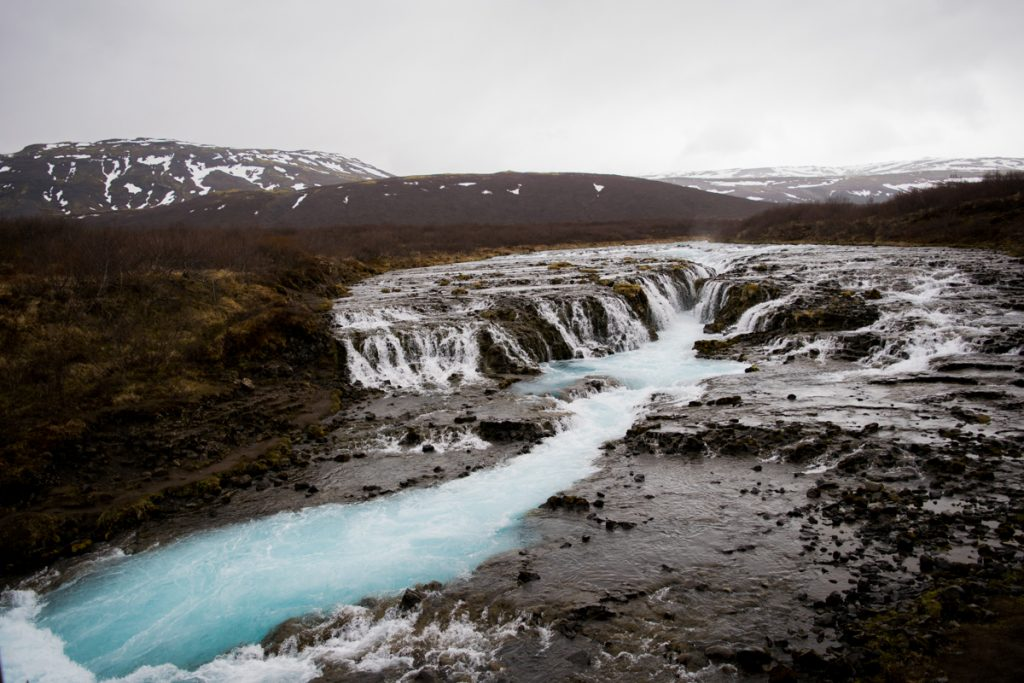 Brúarfoss: the bluest water I've ever seen