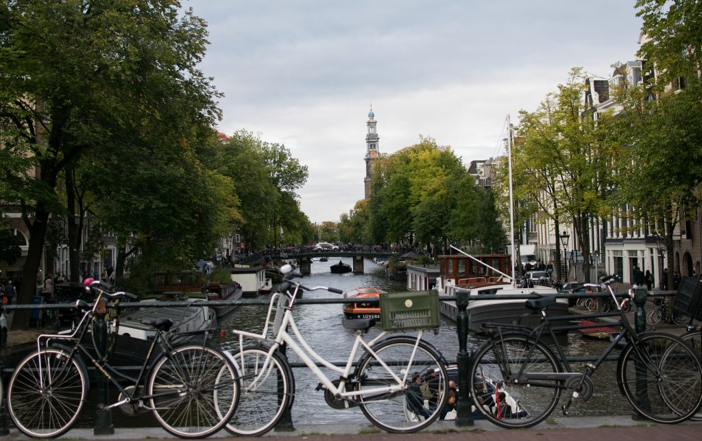 bikes on Amsterdam canal bridge