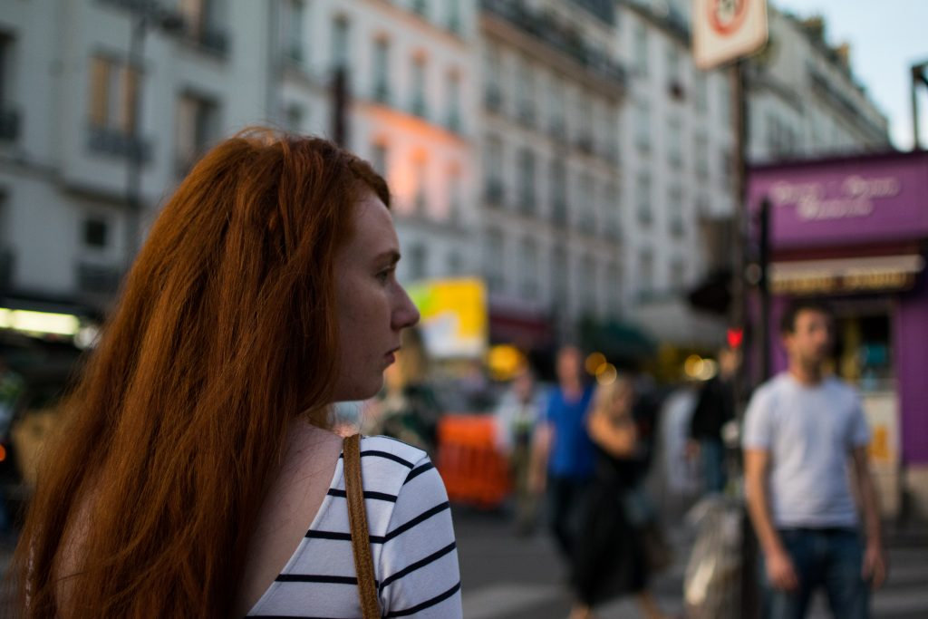 girl red hair montmartre