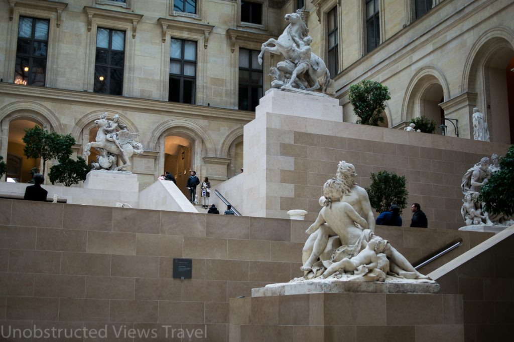 Statues in Cour Marly